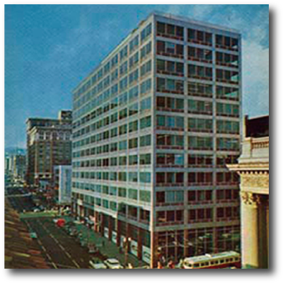 J. Donald Krocker installed the first commercial plastic loop water geothermal design in a commercial office tower in Portland, Oregon.