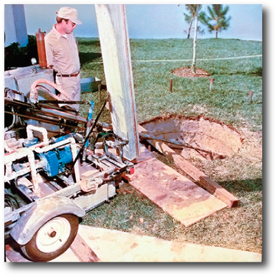 DX Geothermal Introduces the smallest ground loop footprint, only requiring a 3 ft. Circle to be dug up in your yard. The first one being installed in Jackson, Michigan.